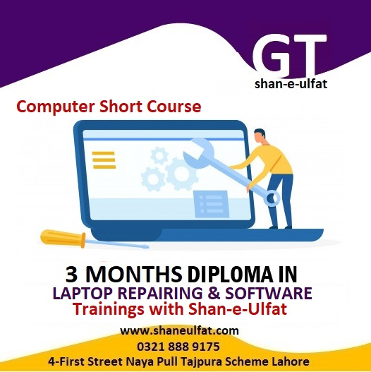 Laptop Repairing Course in Lahore from shan