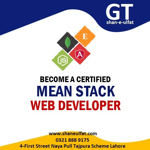 MEAN Stack Web Development in Lahore Pakistan Computer Short Courses from shan
