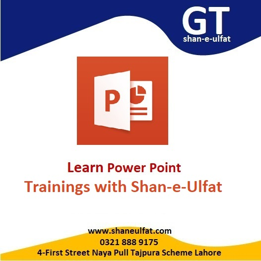 Learn PowerPoint Trainings in Lahore from GT