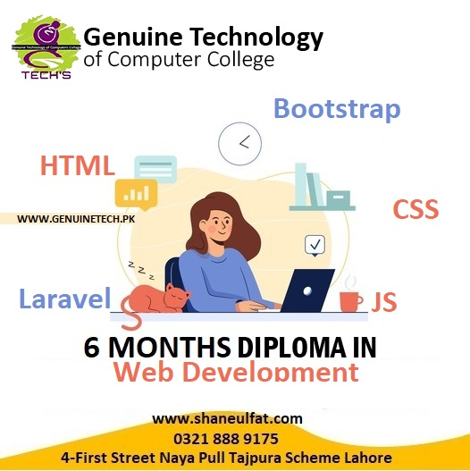 web designer and web developer Trainings in Lahore from GT