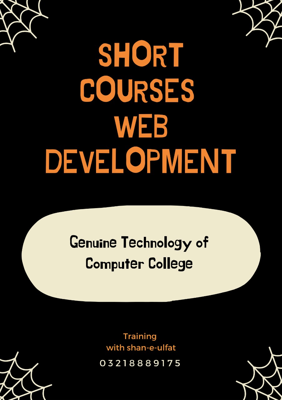 Web Development short course diploma in Lahore from GT