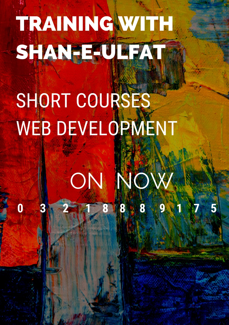PHP short course in Lahore Laravel short course in Lahore Angular short course in Lahore React short course in Lahore by shan-e-ulfat