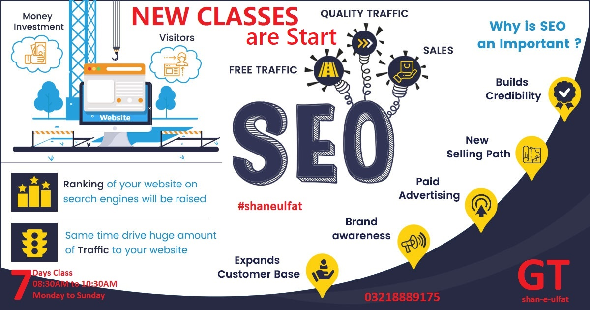 SEO Course in Lahore Best SEO Trainings Short Course in Lahore Pakistan from GT