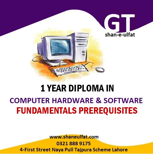 Computer Hardware and Software Short Course in Lahore with shan by shan-e-ulfat