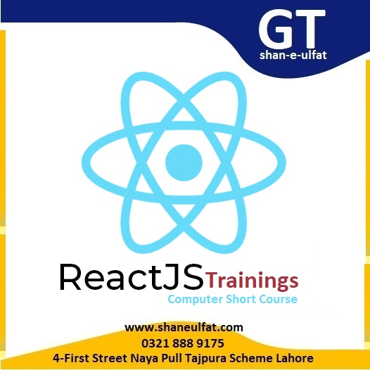 React JS Trainings Short Course in Lahore Pakistan from shan