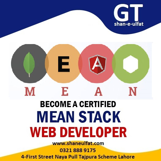 Mean Stact Web Developer in Lahore Complete Short Course for Beginners from shan